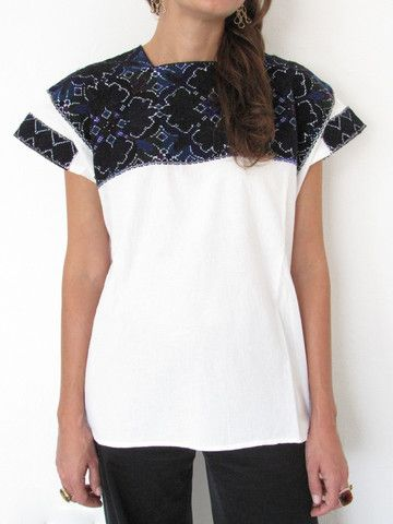 El Bosque Blouse | Oscuras | Hand Embroidery | chiapasbazaar.com | Handmade Mexican Blouses, Accessories & Home Decor from Rural Mexican Artisans