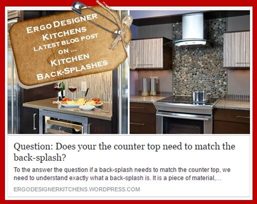 To the answer the question if a back-splash needs to match the counter top, we need to understand exactly what a back-splash is.