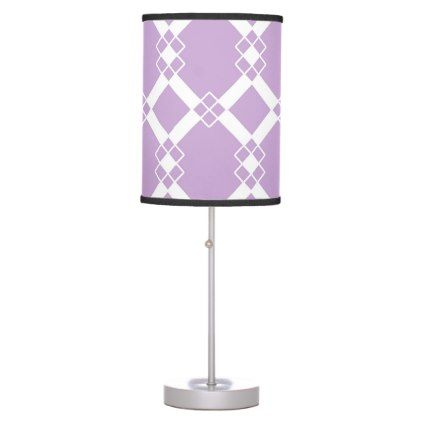 Abstract geometric pattern - purple. desk lamp - holidays diy custom design cyo holiday family