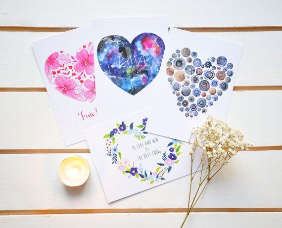 Heart love illustrations