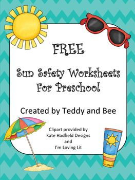 Sun Safety Worksheet for preschool. This freebie is perfect to add a little something extra to your lesson about staying safe in the sun. This package includes two worksheets about sun safety. *This product is for personal use or single classroom use only.