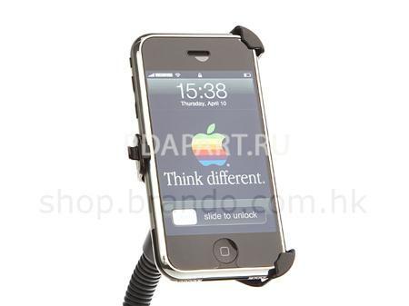 Автодержатель Apple iPhone 2G/3G/3GS Brando  — 300 руб. —  Автомобильный держатель специально изготовленый для Apple iPhone. Идеально подходит для устройства. Гибкость настроек положения, позволяет разместить держатель и iPhone именно так, как хочется вам.