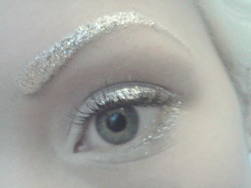 Ice makeup - ice queen.. snowy, white shot..etc