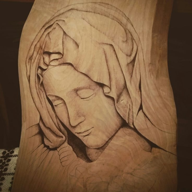 Pieta  #pyrography #woodburning #pieta