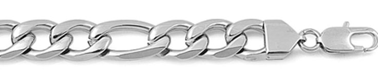 Wide Thick Figaro Chain for Men Stainless Steel 11 MM (24 Inch). Metal: Stainless Steel. Type: Figaro Chain. 11 Millimeters Wide - Length: 24 Inches. Gift Boxed.