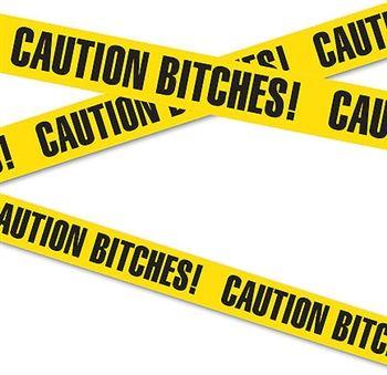 Caution Bitches Bachelorette Party Streamer just $2.99 #BacheloretteParty #BachelorettePartyDecorations