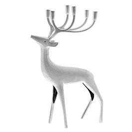 Silver coated Reindeer by Pentik