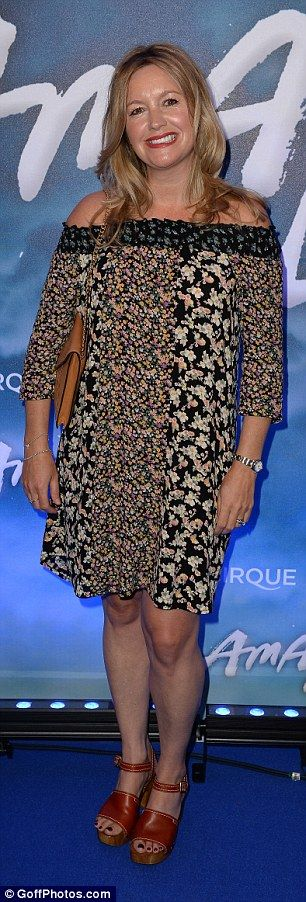Summery: Alex Fletcher wore an off-the-shoulder frilly dress...