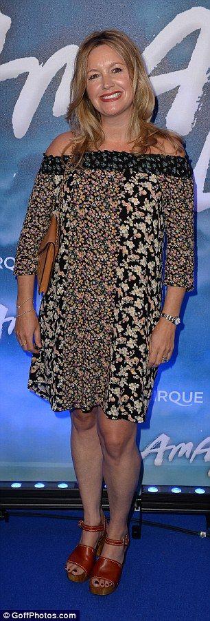 Summery: Alex Fletcher wore an off-the-shoulder frilly dress...