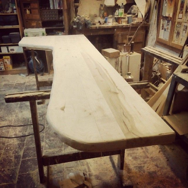 ecovastudesign / Hercik Residence / 2014 / .. the bench out of maple wood that will go with the oval table
