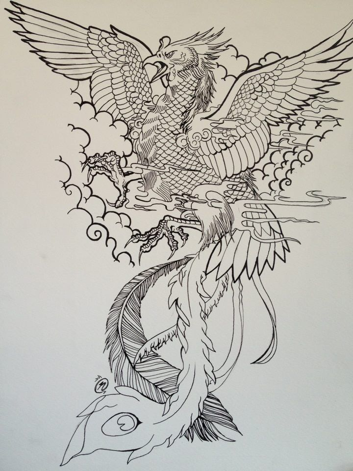 17 best ideas about phoenix tattoo design on pinterest phoenix tattoo arm phoenix and phoenix - Dessin dragon japonais ...