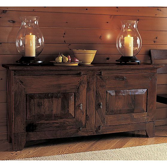 Basque Honey Buffet Storage CratesHurricane CandleHouse DecorationsDiy DecoratingCrate And BarrelKitchen StorageBuffetsRoom DecorDining Rooms