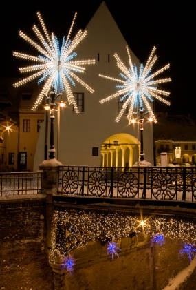 Christmas Lights in Sibiu, Romania