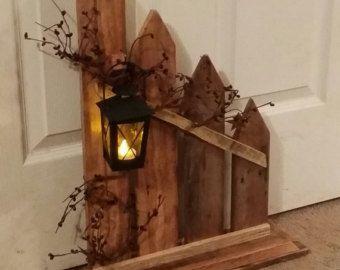 Rústico sostenedor de vela de madera por TeesTransformations