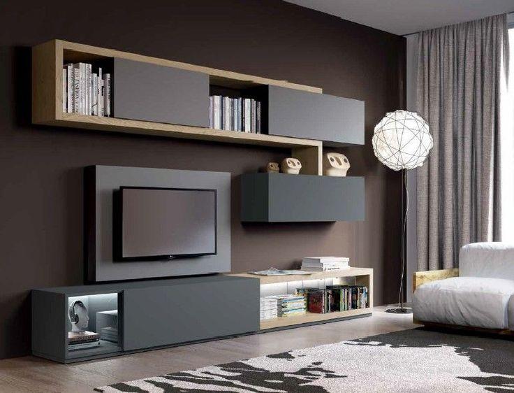 Composizione 507 Skyline 2.0 Moderno - soggiorno