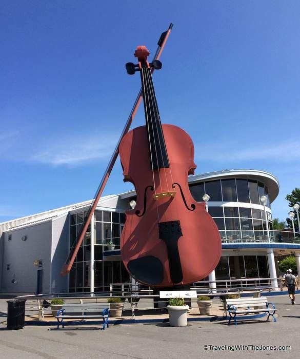 World's largest fiddle, port of Sydney, on Cape Breton Island, Nova Scotia, Canada