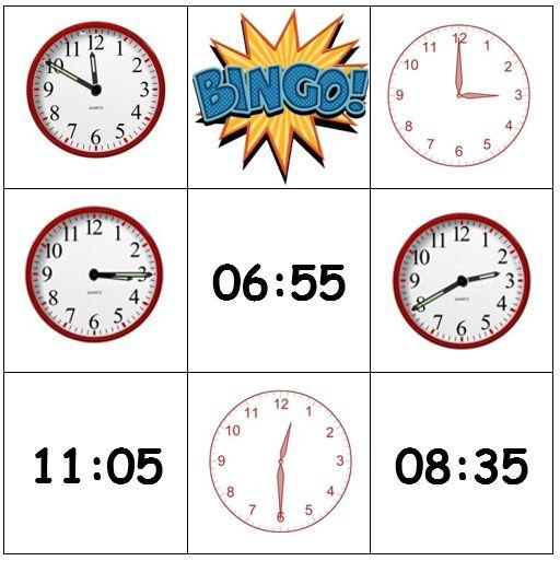 Bingospel  Versie 1: De leerlingen moeten zo snel mogelijk hun bingokaart vol hebben. Ze krijgen vragen en opdrachten rond een onderwerp, bijvoorbeeld: het bijvoeglijk naamwoord. Bij een juist antwoord mogen ze een symbooltje doorstrepen. Versie 2: De leerlingen krijgen een kaart met analoge en digitale klokken op. In een zak zitten ook analoge klokken die overeenkomen met het uur van de digitale klokken op de bingokaarten en digitale klokken die overeenkomen met het uur van de analoge…