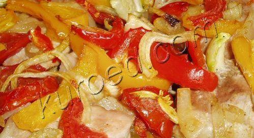 свинина запеченная с овощами