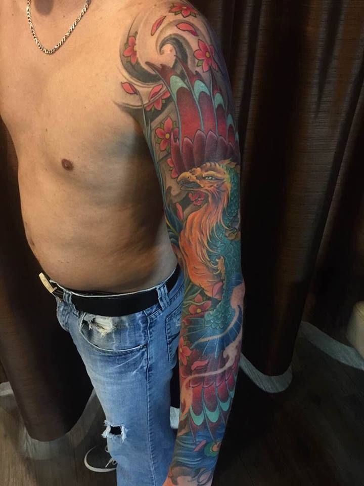 Chronic ink tattoo toronto tattoo phoenix sleeve tattoo for Toronto tattoo artists