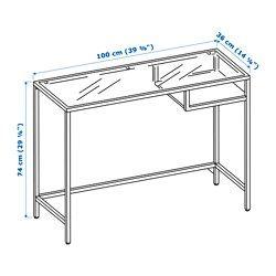 "VITTSJÖ Laptop table, black-brown, glass - 39 3/8x14 1/8 "" - IKEA"