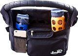Best Stroller Organizer & Stroller Handle Bag - Insulated Cup Holder & Baby Shower Gift For Baby Stroller Accessories - Lightweight Stroller & Durable Diaper Bag - Great New Parents Gift