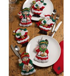 Bucilla ® Seasonal - Felt - Home Decor - Silverware Holders - Santa and Mrs. Claus | Plaid Enterprises