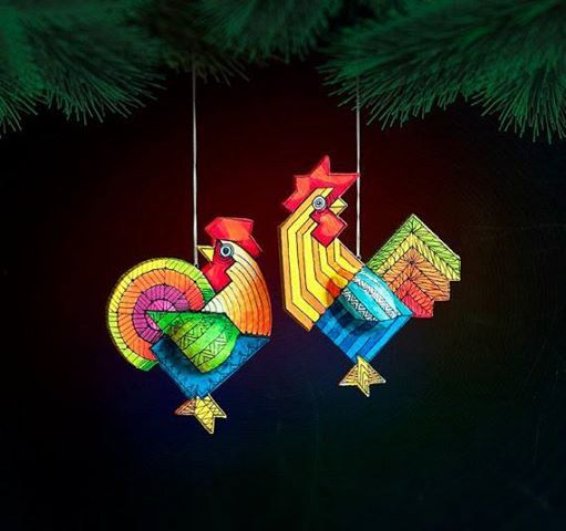 Roosters , home ddecoration by Marstoys on Etsy