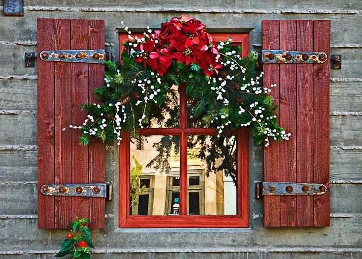 Red Shutters and Christmas Christmas Pinterest