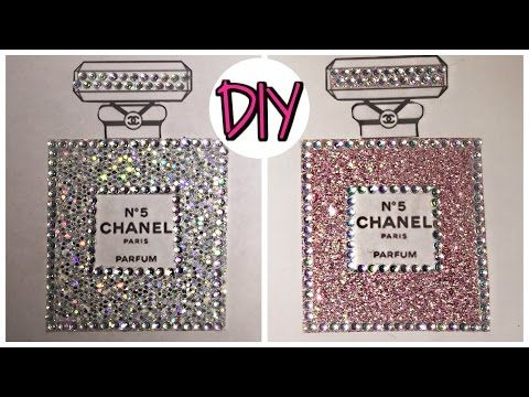 DIY Chanel Perfume Art - YouTube