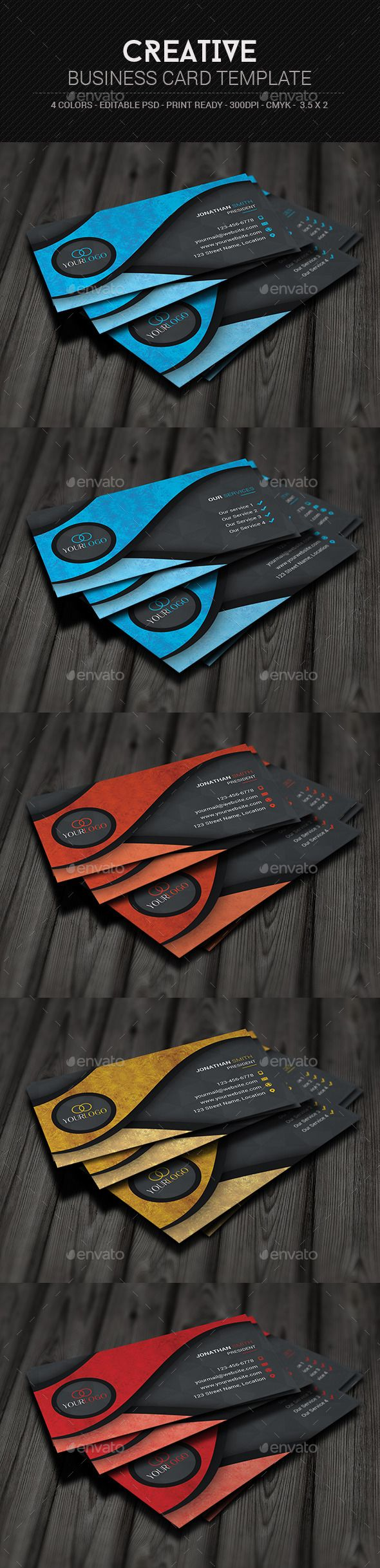 Creative Business Card Template #design Download: http://graphicriver.net/item/creative-business-card-template/11129174?ref=ksioks