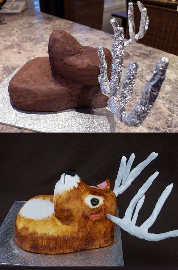 Deer Cake Side View By Verusca Deviantart Com Zanimanja