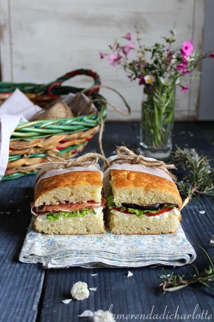 FOCACCIA AL FARRO RIPIENA #picnic #focaccia #ricette #italy vegetables #savory#recipes #bread #pane #