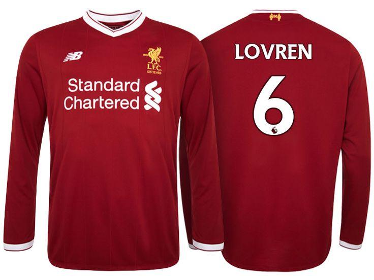 Liverpool Jersey dejan lovren Home Long Sleeve 2017-18 Shirt