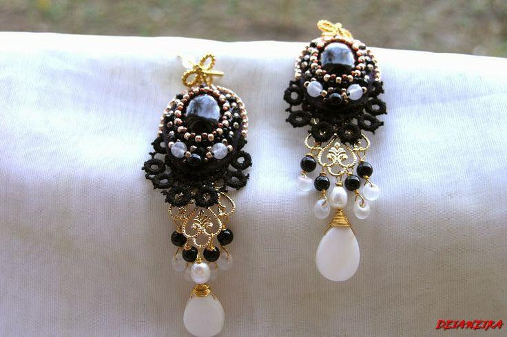 Cercei+candelabru+agata+neagra,onix,snow+quartz,perle+cultura+rondele+cristal+dantela+neagra,sidef,accesorii+aurite+1.jpg (800×533)
