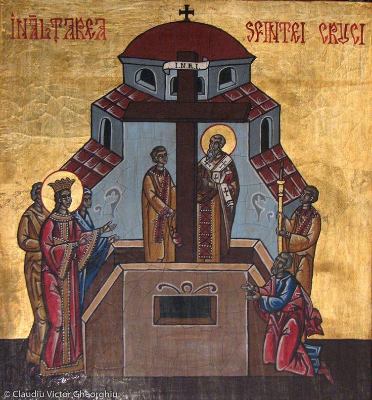 Inaltarea Sf. Cruci, Manastirea CARAIMAN-Busteni, icoana de hram, 2008, din surse manastiresti aceasta icoana se gaseste in chilia Parintelui GHERONTIE PUIU(+2014), ctitorul Manastirii Caraiman.