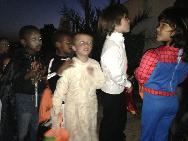 Halloween celebrations in Johannesburg South Africa.  The children from Montessori-on-a-Hill, Kensington, Johannesburg.  Photos by Rita Doherty.