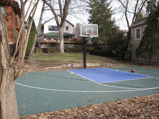 this is probably more realistic Backyard basketball court