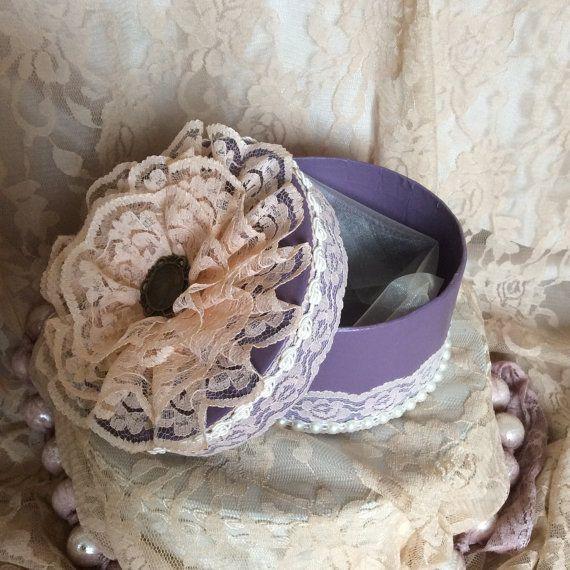 Victorian style lace jewellery box wedding by EnchantedLaceDecor