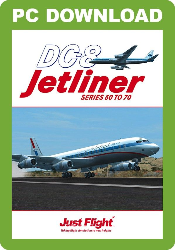 JUSTFLIGHT : DC-8 Jetliner 50-70 The classic 'short fuselage' DC-8 first flew on 30th May 1958 and covered the -10 to -50 series but in 1965 a stretched fuselage series was announced, starting with the -60 series. This FSX and Prepar3D collection covers the short fuselage -50 series up to the ultra-long stretched -73 series and includes three distinctive cockpit variations from the classic round-dial analogue version through a part-modernised version to the modern 'glass cockpit' variant in…