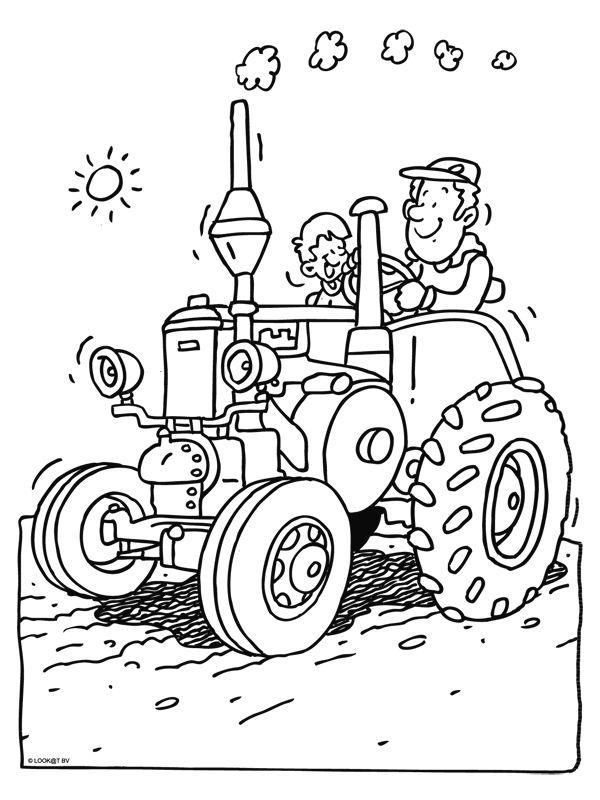 45 best kleurplaten tractor images on coloring