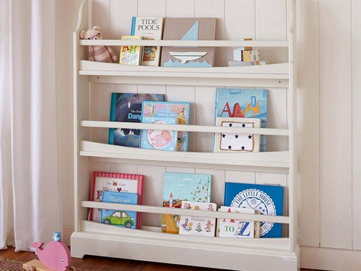 Cute White Bookshelf For Kids Room