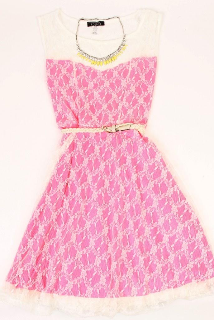 Deb Shops #neon #dress