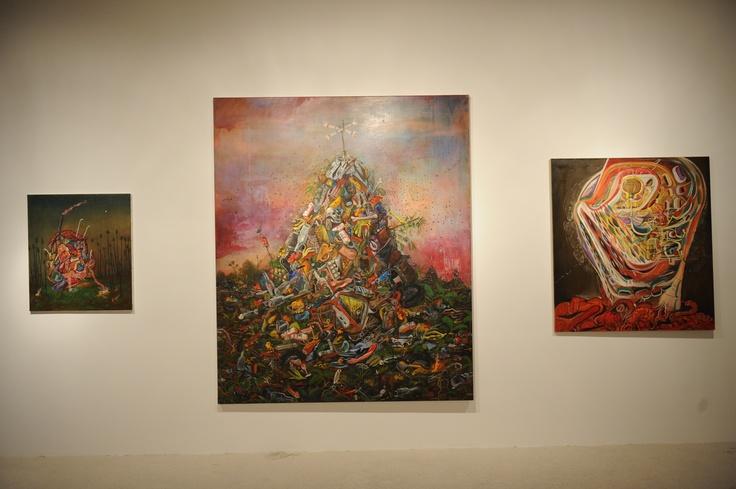 "Jakub Julian Ziolkowski Installation view, 2nd Athens Biennale 2009 ""Heaven"""