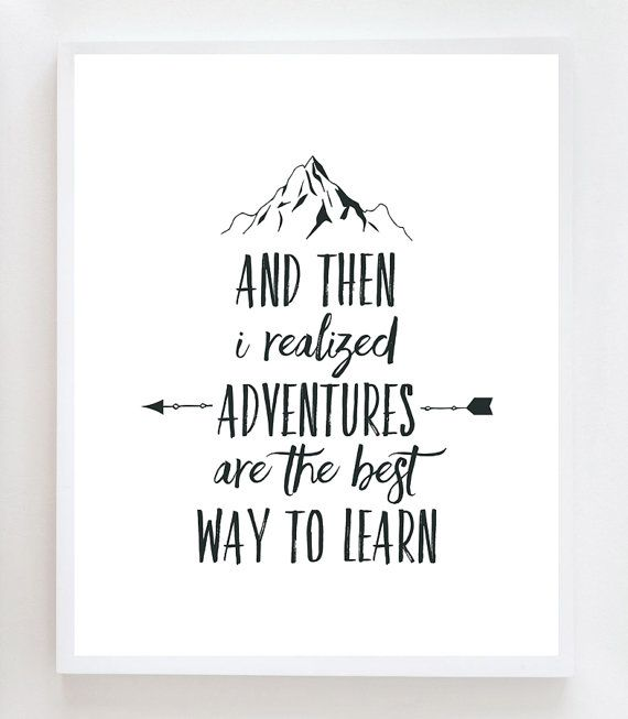 Superb Adventure Quote Wall Art Print By OwlYouNeedIsLoveShop On Etsy
