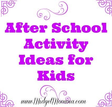 Kids After School Activity Ideas that will help you when you are trying to figure out After School Activity Ideas for Kids.