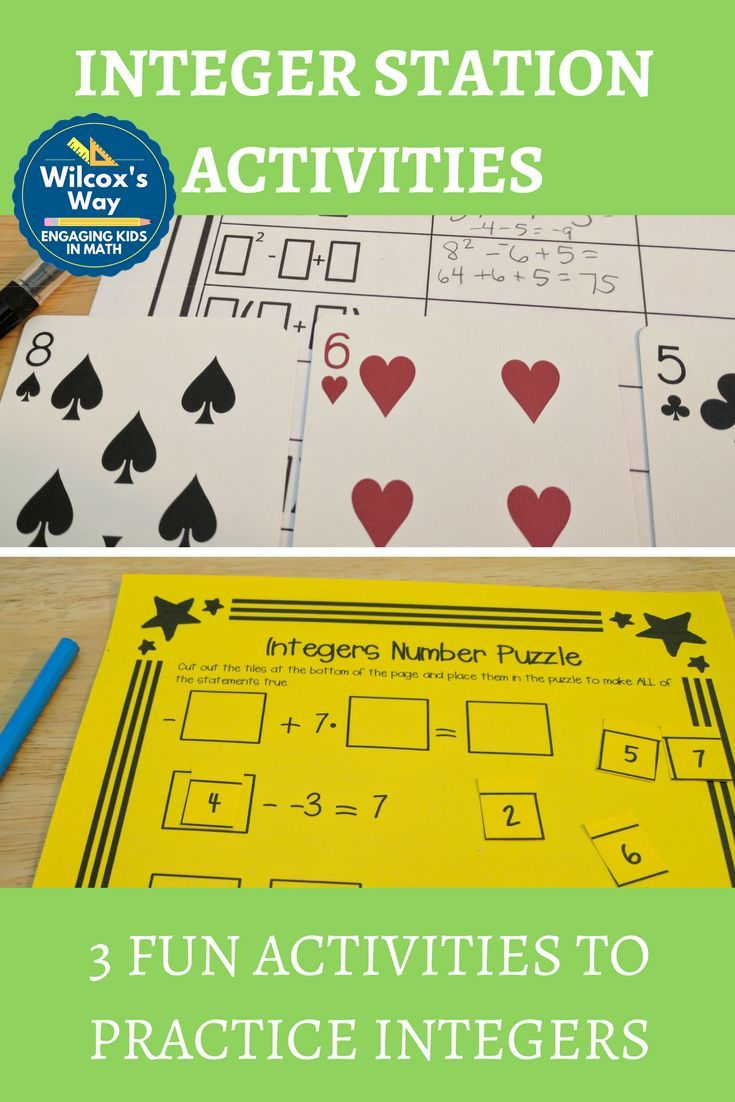 Fun activities to practice integer operations. Fun number puzzle, a card game and an always/sometimes/never critical thinking activity
