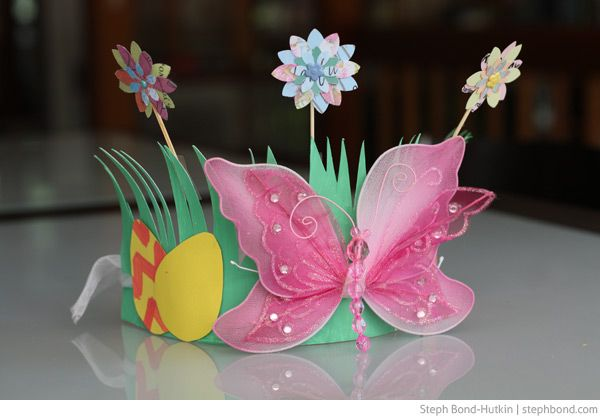 Four Easter hats. Instructions http://www.mumsbusiness.com.au/2013/03/22/four-easy-easter-hats/