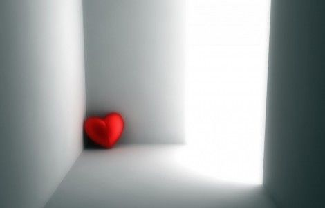 Heart at wall Wallpaper