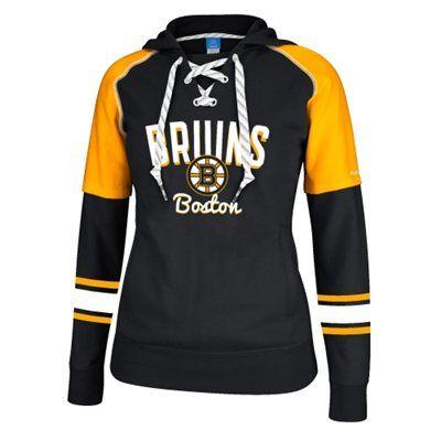 63b092627 Boston Bruins Reebok Women s Core Pullover Hoodie – Black Gold ...