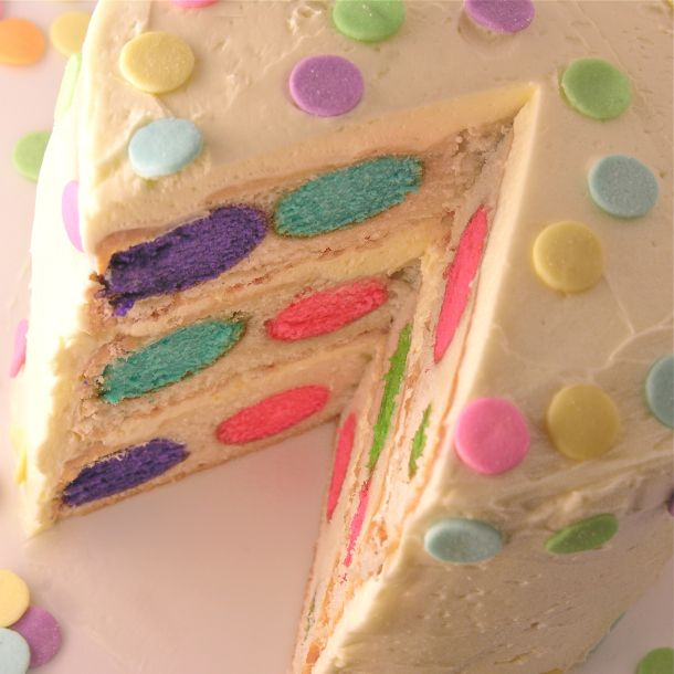 Polka Dot Cake! So cute!!! This would be so fun to make for a little girl's b'day party!!